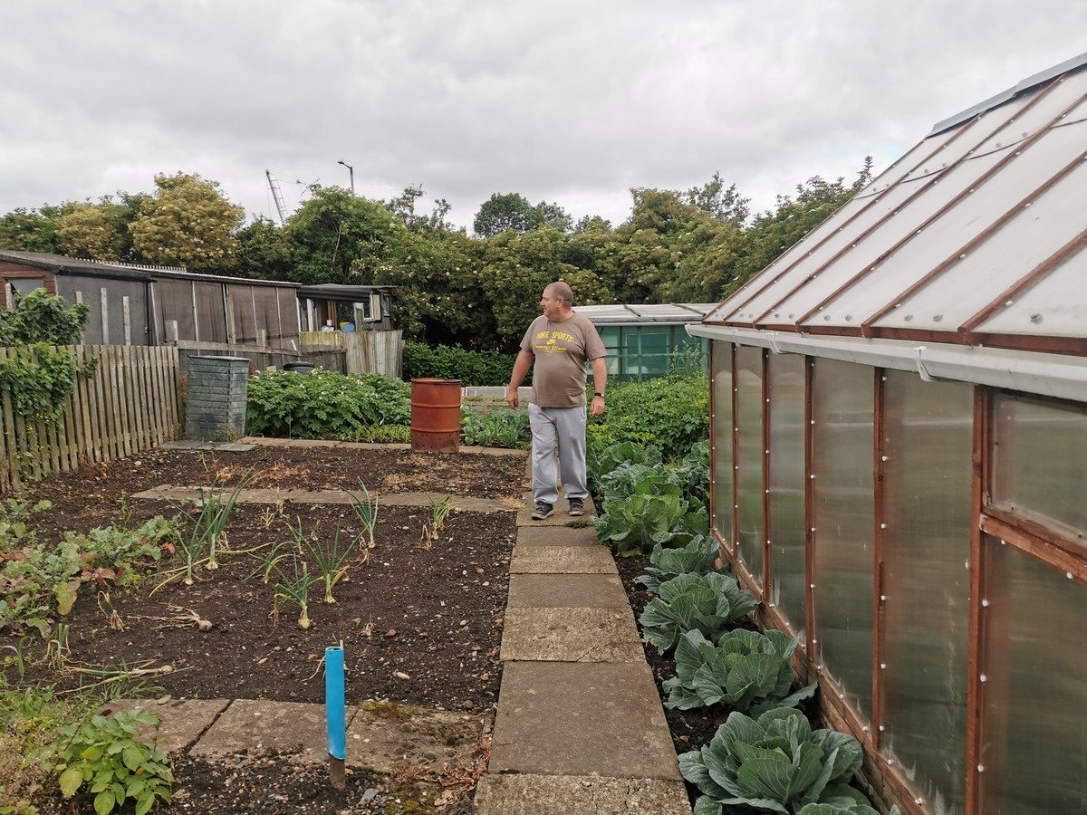 Ian on his allotment at HighNewport Allotments